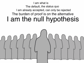 1 null hypothesis