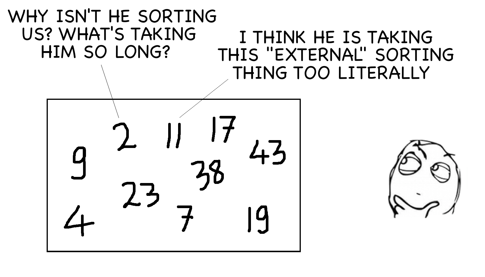 what is external sorting perpetual enigma